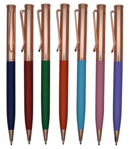 Rose Golden Best Selling Metal Ball Pen with Logo Laser
