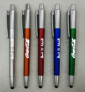LED Light Stylus Ball Pen with Customized Logo